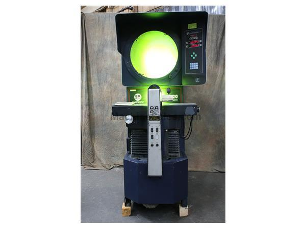 "20"" Screen OGP QL-20S, NEW 1998, 8"" x 32"" POWER TABLE, OPTICAL COMPARATOR, DRO, PROJECTRON EDGE DET., LENSES"