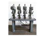 4 Spindles Clausing 1666 MULTI-SPINDLE DRILL, Vari-Speed, #33JT, 4-Drill Chucks, 3/4 HP He