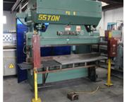 "55 Ton, Chicago # 68B , mechanical press brake, 8' OA, 78"" BH, 12"" SH, 8"" t"