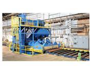 Wheelabrator PSM-1018-6-30 6-Wheel Horizontal Plate Shot Blast System
