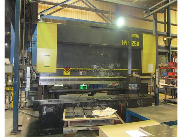 Toyokoki 250 Ton x 13' HYB-250-40 CNC Electric/Hydraulic Press Brake A