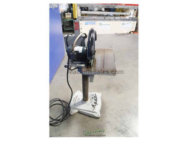 "20"" Apex # 20D , disc grinder, table tilt handwheel, table elevating mechanism, magnetic starter, #A5486"