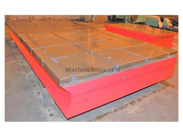 "T-Slotted Floor Plates (2) 90"" x 215"" Cast Iron Construction"