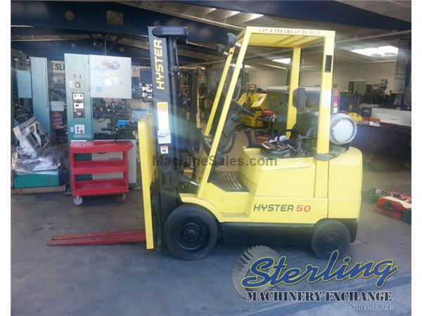 4700 lb. Hyster # S50XM , propane forklift, side shifter, #A5534