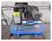 20 cfm, 125 psi, Energair # 5B50E60 , Air Compressor, 5 HP, 60 gal. tank, S/N CV-A 5 006 0