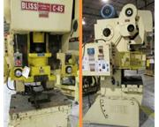 45 Ton, Bliss # C45 , OBI punch press, serial #H70622, 1990, #6413P