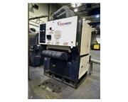"""36"""" Timesaver # 3221-23-00 , dual head belt grinder sander, wet dust collector, '11,"""