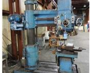 "4'-11"" Carlton # 1A , 120-3000 RPM, box table, power elevation & clamp, #4 MT, #6663P"