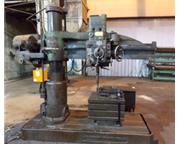 "5'-11"" Carlton # 1A , radial drill, #4MT, box table, power elevation & clamping.5 HP,"