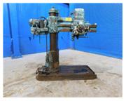 "4'-9"" Carlton # 1A , radial arm drill, box table, power elevation, 3 HP, #7082P"