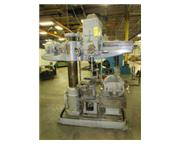 "3'-9"" Cincinnati Bickford # 1R , radial arm drill, box table, power elevation, 3 HP,"
