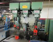 "3 Spindle, Allen #2, 3-head multi drill bank, 24"" swing, 3 HP each head, #8136P"