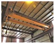 25 Ton, Kone , top riding double girder bridge crane, 45' Span, 25' lift, pendant control,