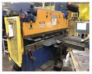 "60 Ton, Accurpress # 7608 , hydraulic, 8' OA, 76"" BH, ETS 3000 3-Axis CNC BG, 1998, #"