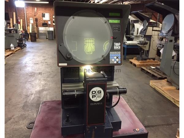 "14"" Screen OGP TOP BENCH, NEW 1997, POWER TABLE, 3 LENSES, OPTICAL COMPARATOR, OGP DRO w/PROG. GEO FUNCT.  EDGE DET."