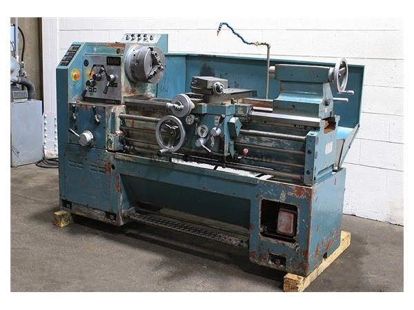"20"" Swing 40"" Centers Victor S2040G ENGINE LATHE, Inch/Metric, Gap, 3-Jaw, 3"" Hole"