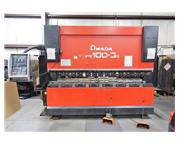 Amada HFE1003S 110 Ton 8-Axis CNC Hydraulic Down Acting Press Brake