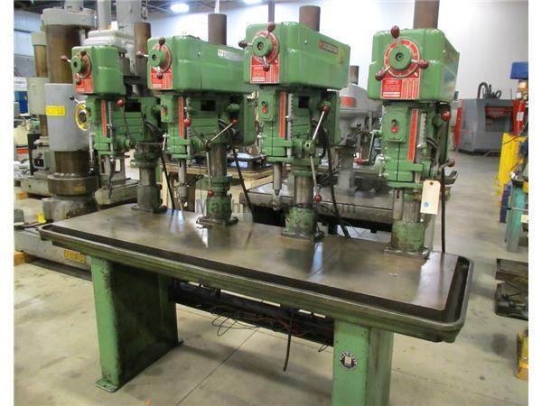 POWERMATIC MODEL 1200 4-SPINDLE VARIABLE SPEED DRILL, 20