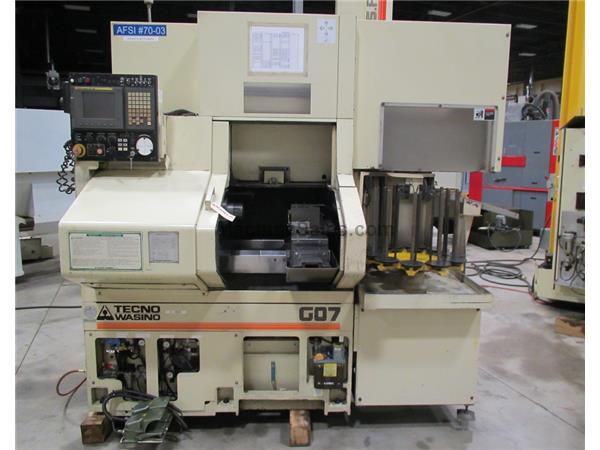 2005 WASINO G-07 GANG TOOL CNC LATHE WITH GANTRY LOADER & FANUC 21iTB