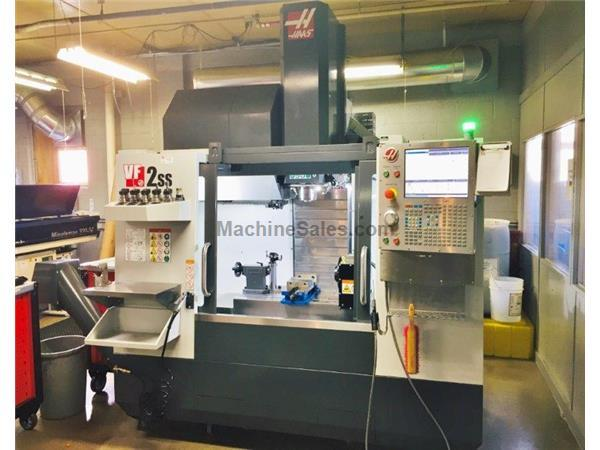 HAAS VF-2SS, 2018, 4TH AXIS, HRT210, TSC, PROBING