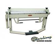"12 ga. x 3' Baileigh # BB-4012F , 40"" length, 2.5"" box depth, blade gap adj, foo"