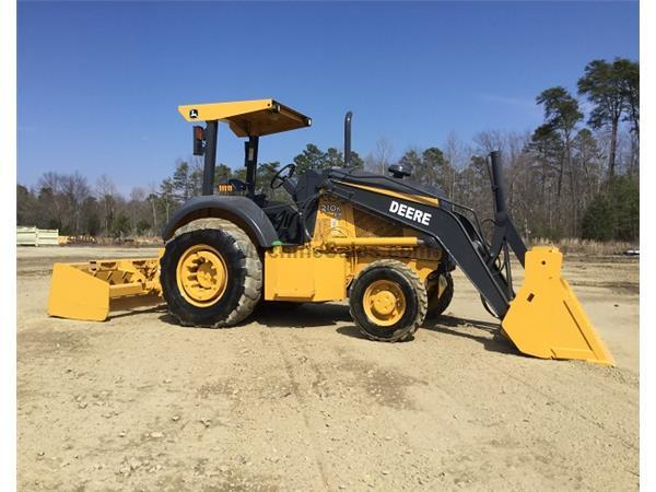2012 DEERE 210K EP 4 X 4 w/ LANDSCAPE ATTACHMENT - W6606