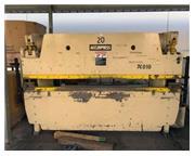 """60 Ton, Accurpress # 76010 , hydraulic, 10' OA, 100"""" BH, 8"""" stroke, 8"""" thro"""