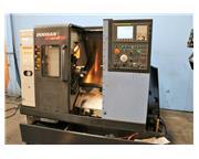 "20.1"" Swing Doosan Lynx 220A CNC LATHE, Fanuc 0iTC, 6""chk. Chip Conveyor"