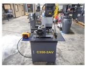 HYD-MECH C350-2AV HVY DTY MANUAL COLD SAW, Miters 45 deg L R