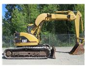 Caterpillar 313B SR Hydraulic Excavator Offset Boom Rubber Tracks Cab A/C