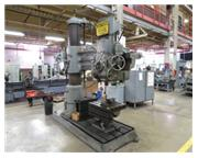"5'-15"" Carlton # 3A , radial arm drill, 1200 RPM, #5 MT, 10 HP, power elev, power cla"