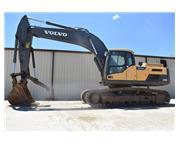 2012 VOLVO EC300 DL W/ HYDRAULIC THUMB & CAB W/ A/C & HEAT - E7140