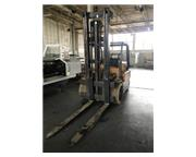 HYSTER 12,500 SOLID TIRE FORKLIFT, 1985,2 stage mast, 12,500lb cap.