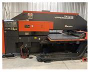 22 TON AMADA VIPROS 255 HYDRAULIC CNC TURRET PUNCH PRESS W/ FANUC 18P CNC C