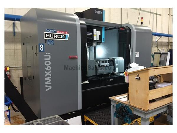 Hurco VMX 60Ui (2015 Del. New 2016) VMC with 24 HP 5 Axis Trunnion
