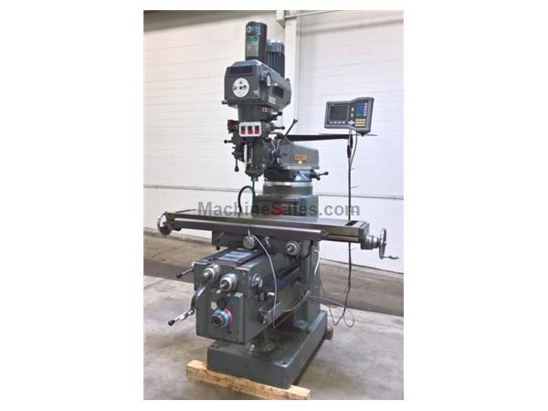 "FTV-4 Lagun,11"" x 58""Tbl,4HP,R-8,3-Axis Pwr Feed,Pwr"