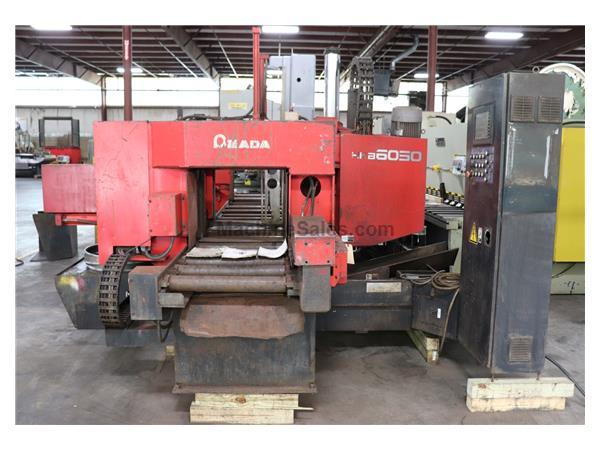 "24"" x 20"" AMADA HKB 6050 CNC Twin Post Horizontal Band Saw, 2002"