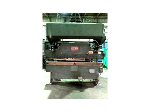 CHICAGO D&K 8' X 55 TON MECHANICAL PRESS BRAKE 68-B, 1965, F.O.P.B.