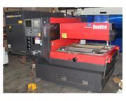 "Amada # QUATTRO , CNC laser, 2000 watt, 49.6"" X, 49.6"" Y, 3.9"" Z, Fanuc 16i"