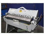 14 ga. x 4' Chicago # BPO-414-6 , heavy duty finger brake, 2-counter weights, stand, #A565