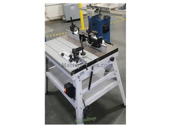 "12"" x 31"" Baileigh #RTS-3012, sliding router table, 45 tilt table, miter gauge, clamps, dust hood, 10.5"" x 2"" fence, #A5622"
