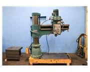 "4' Arm Lth 9"" Col Dia San Yueh SY-1100 RADIAL DRILL, #4MT, Power Elevation, Box Table"