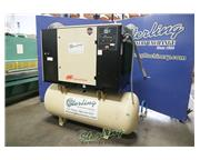 125 cfm, 150 psig, Ingersoll-Rand # SSR-UP6-30-150 , 30 HP, sound enclosure & air tank, 12