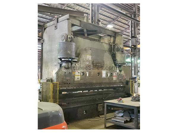 600 Ton x 14' CINCINNATI 600H Hydraulic Press, Hurco BG