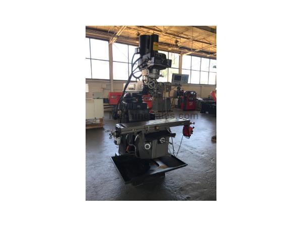 JET VERTICAL KNEE MILL ETM1050EVSX-axis power feed, 2-axis readout, 3HP,R-8