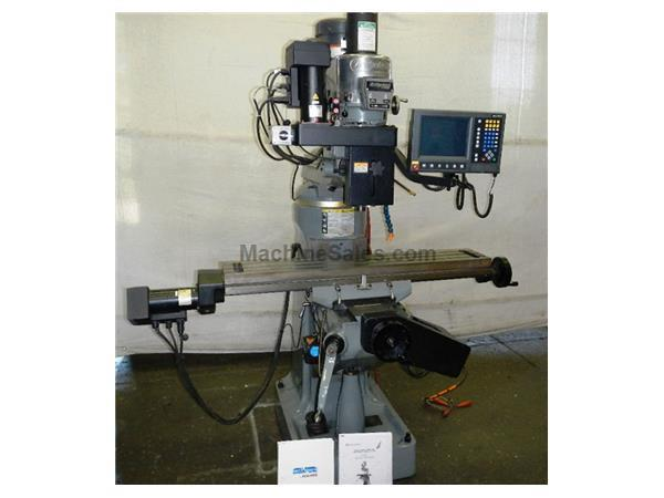 "30"" X Axis 2HP Spindle Bridgeport SERIES I CNC VERTICAL MILL, Acu-Rite Mill-Pwr 3-Axis CNC Cntrl,Kurt PDB,R8,CH"