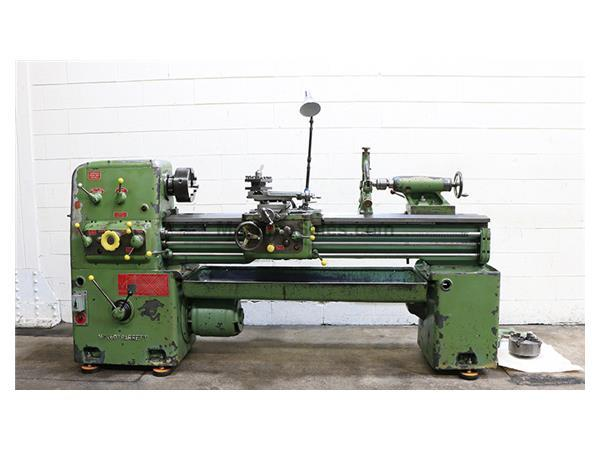 "16"" Swing 60"" Centers Barrett 16x60 ENGINE LATHE, Inch/metric,Gap,34 Jaw, Steady , 5 HP"