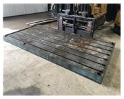 "FABRICATED STEEL SURFACE PLATE / LAYOUT TABLE 144"" X 72"" X 6&quot"