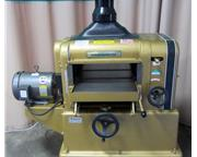 "Used Powermatic model 180, 18"" single surface planer"