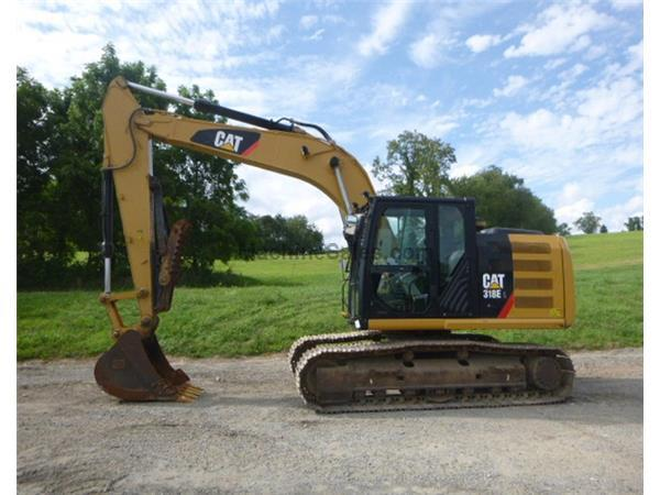 2013 Caterpillar 318EL W/ MANUAL THUMB & CAB W/ A/C & HEAT - Stock
